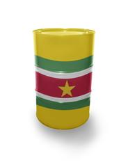 Barrel with Surinamese flag