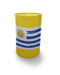 Barrel with Uruguayan flag