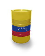 Barrel with Venezuelan flag
