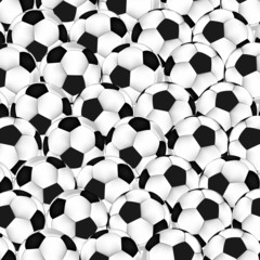 Vector seamless texture on a soccer theme