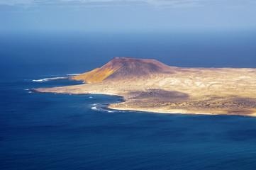 view to La Graciosa Island from Mirador del Rio. Lanzarote, Cana
