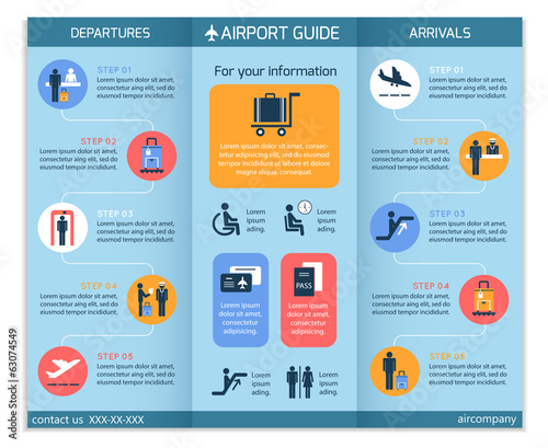 Airport Business Infographic Brochure