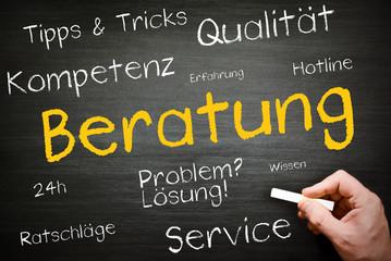Beratung - Service - Tafel