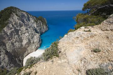 Rocky cliffed coast