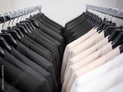 Rows of men's suit jackets