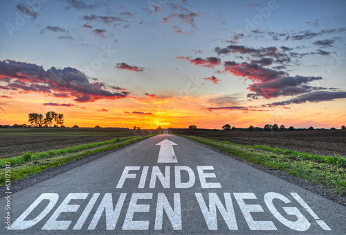 canvas print picture Finde deinen Weg