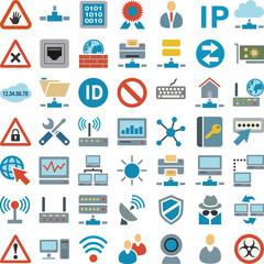 Symbole Netzwerk