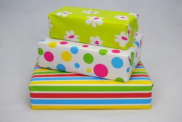 Mooie gekleurde pakjes