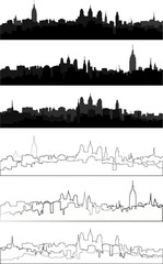 silhouette of city in black interpretation part 1