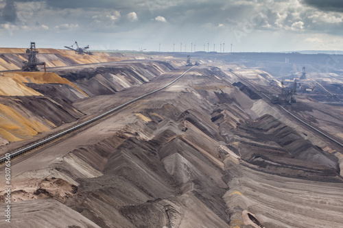 Leinwanddruck Bild garzweiler brown coal surface mining germany