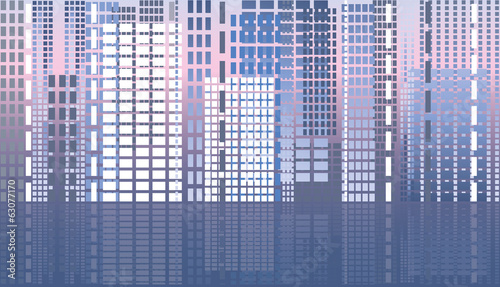 City abstract banner, vector illustration