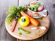 Vegetable soup ingredients