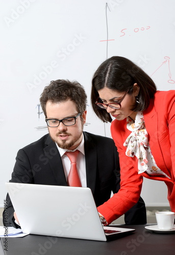 Business colleagues working together
