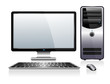 Computer with Monitor Keyboard and Mouse