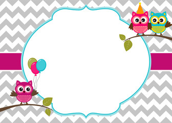 Owl Birthday Invite as perfect invitations layout