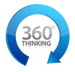 360 thinking cycle illustration design