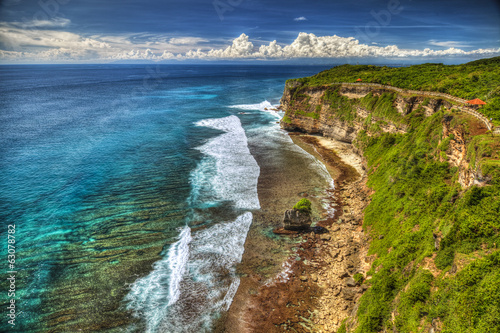 canvas print picture Rocks at Uluwatu in Bali, Indonesia