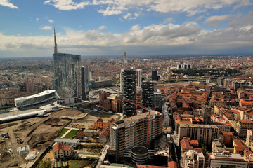 Milano - Porta Nuova - nuovi edifici e Bosco verticale