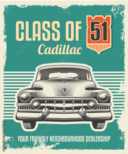 Aluminium Vintage Poster Vintage sign - Advertising poster - Classic car