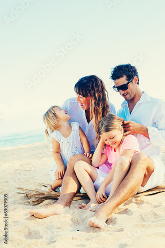 Happy Family at the Beach