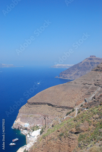 Caldera in Santorini Island (Greece)