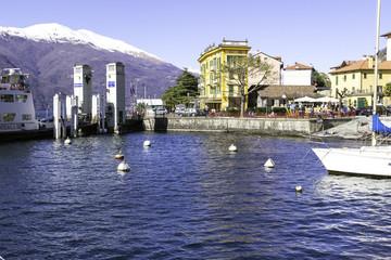 Varella-Lecco-Tourist ferry port color image