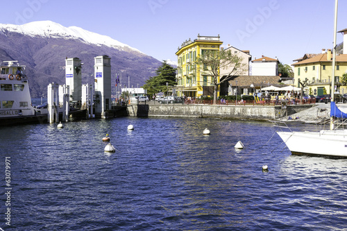Varella-Lecco-Tourist ferry port color image