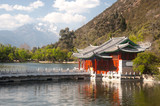 Black Dragon Pool in Lijiang,Yunnan in Southwestern of China. poster