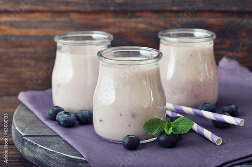 Yogurt with  fresh blueberry