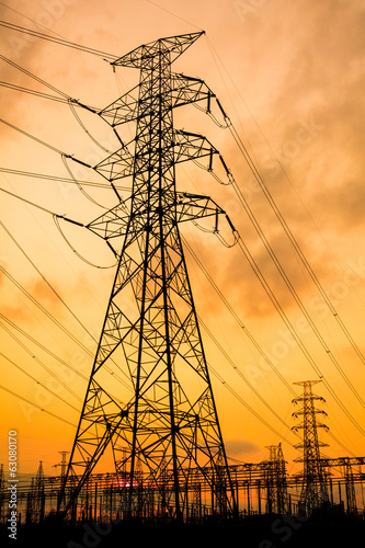 Electrical substation and tower