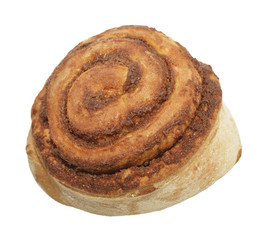 Cinnamon Roll  Isolated On White