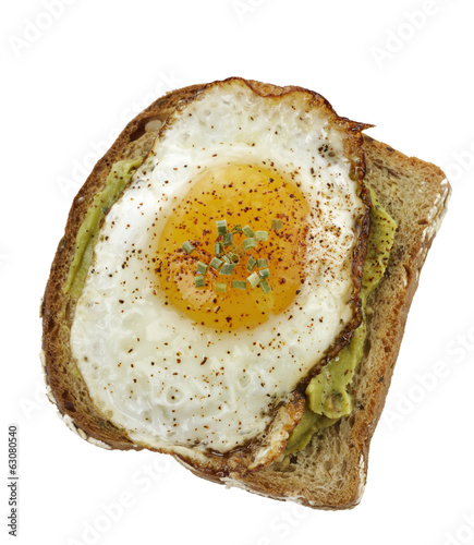 Avocado Sandwich With Fried Egg.