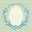 Happy Easter card with place for your text.