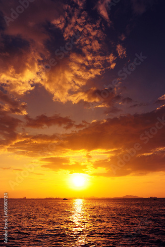 Sea Sunset and Cloudscape