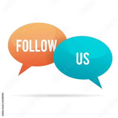 Follow Us Talk Bubble