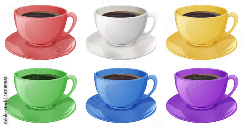 Cups with coffee