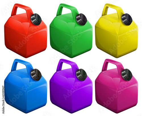 Colorful gas containers