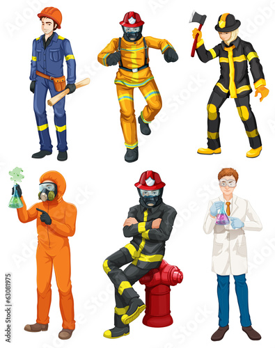 Men with different professions