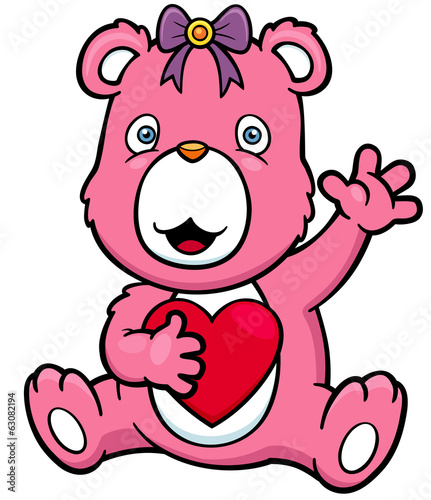 Vector illustration of Cartoon bear