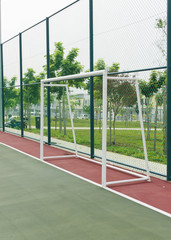 Goal post in futsal court.