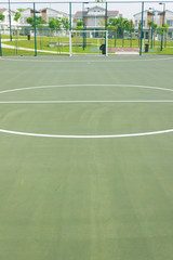 Futsal court concrete flooring and lines