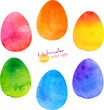 Watercolor painted vector Easter egg