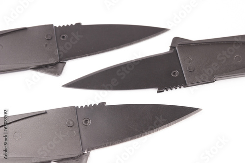 Folding knife isolated on white background