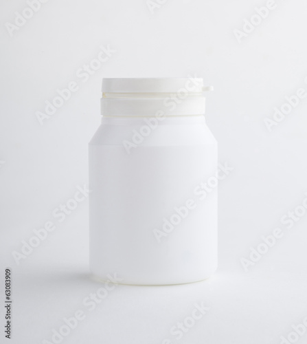 Supplementary bottle food isolated on white