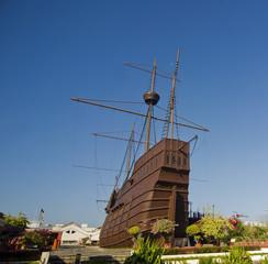 Malaysia,Malacca:Ma ritime Museum, Flor de la Mar Nau (carrack)