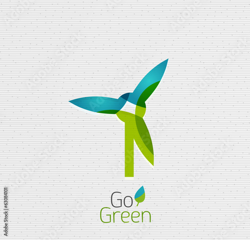 Eco Windmill Abstract Shape Design