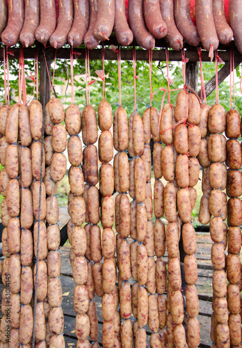 pork sausages food of native in Thailand