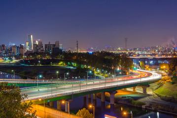 Night City LandScape of the Seoul, Korea