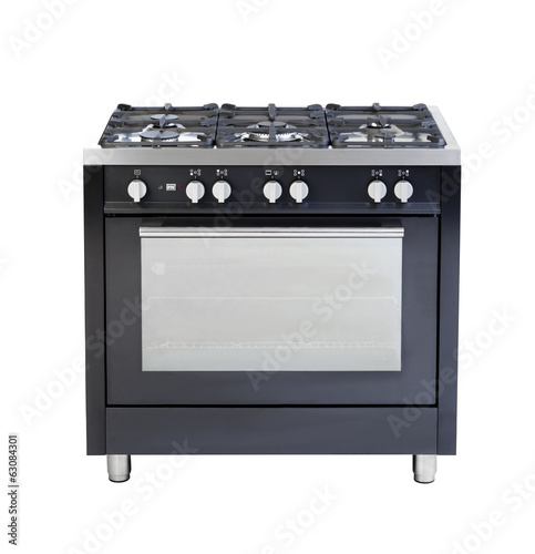 Electric stove and oven a useful kitchenware isolated on white