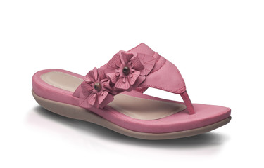 Pink lady leather shoe style isolated